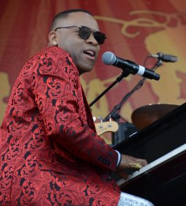 ¶DAVELL CRAWFORD – Shown leading a Fats Domino tribute at Jazz Fest in New Orleans, the pianist-singer plays solo at Cock 'N Bull on Wednesday. credit: Michael Hochanadel